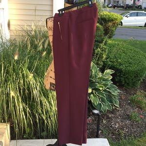 Pull on WINE dress pants